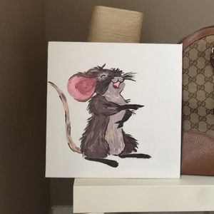 Hand Painted Acrylic Laughing Mouse